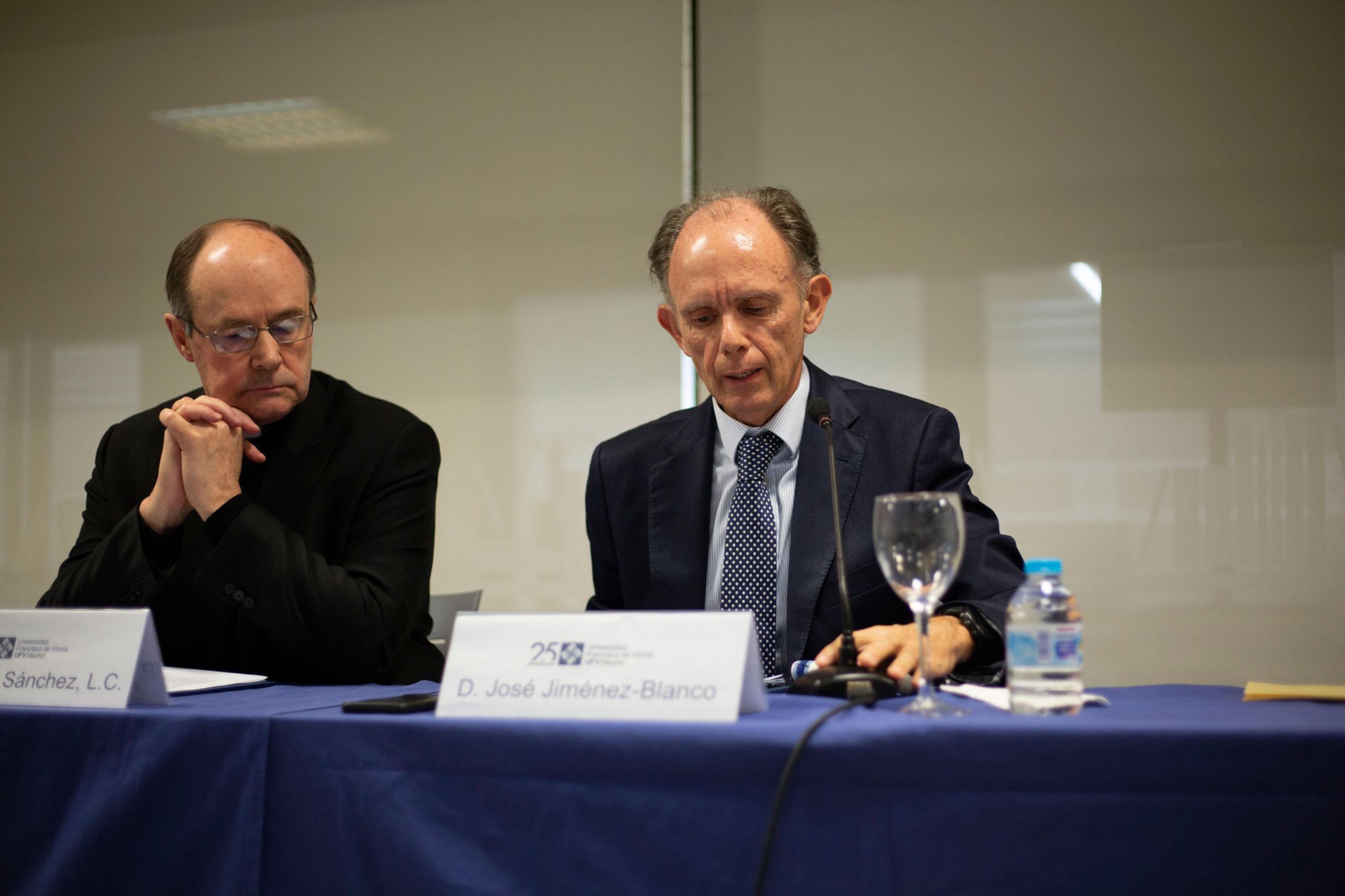 José Ignacio Jiménez Blanco en la Universidad Francisco de Vitoria