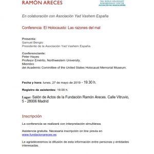 Conferencia Peter Hayes en la Fundación Ramón Areces.